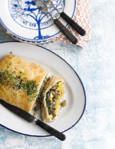 itämainen sieni-pinaattipiirakka Spanakopita, Ethnic Recipes, Anna, Food, Google, Eten, Meals, Diet