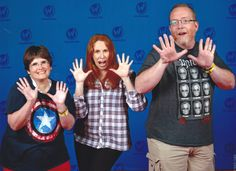 """Us with Catherine Tate (""""Doctor Who"""", """"The Office"""") at Wizard World Chicago 2017."""