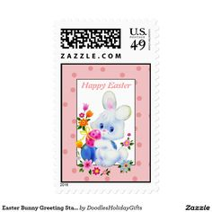 Easter Bunny Greeting Stamp
