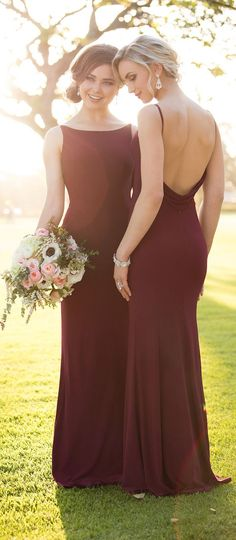 Burgundy Bridesmaid Dresses by Storella Vita #bridesmaiddresses