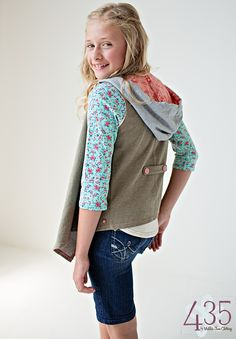We have this vest and LOVE it! Friends Forever, Fall 2015: Savannah Tee and Ella Vest