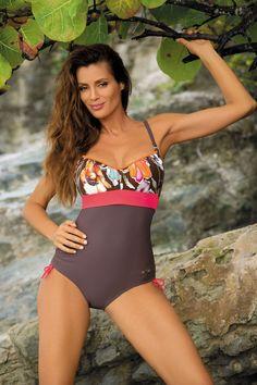 5933072643e8 Maillot de bain 1 pièce femme moka corail MARKO MICHELLE M L XL 2XL 3XL 4XL  Baie