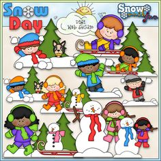 Snow Day 1 - NE Marjorie Ann Designs Clip Art : Digi Web Studio, Clip Art, Printable Crafts & Digital Scrapbooking!