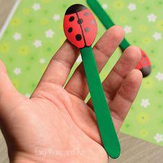 DIY Puppet - Ladybug Spoon Craft