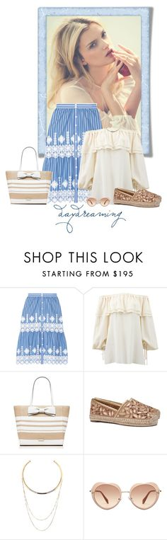 """""""Standing Still"""" by seafreak83 ❤ liked on Polyvore featuring Miguelina, Michael Kors, Kate Spade, Tory Burch, Edge of Ember and Miu Miu"""