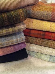 Heavens to Betsy Wool >>note to self, find vegan-friendly plaid scarf. One of my winter staples that I miss dearly. Wool Quilts, Wool Fabric, Wool Rugs, Felted Wool Crafts, Wool Felting, Wool Shop, Hand Hooked Rugs, Wool Embroidery, Wool Art