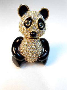 Vintage Joan Rivers Pin Brooch Panda Bear by StetsonCollectibles, $75.00