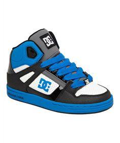 Loving this Blue & Gray Rebound Leather Sneaker - Kids on #zulily! #zulilyfinds
