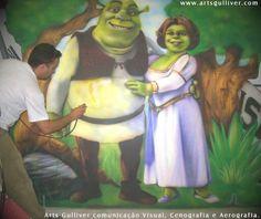 Pintura em mdf shrek