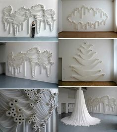 Toilet Roll art installation
