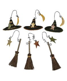 Take a look at this Broom & Hat Ornament Set by Primitives by Kathy on #zulily today!