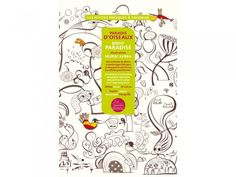 Birds Paradise Coloring Poster