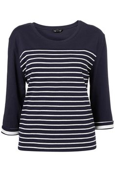 Boxy Stripe Elbow Tee by Topshop