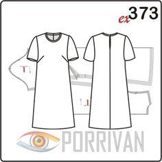 Выкройка простого платья с коротким рукавом подходит для кройки из любых тканей, даже шерстяных. Особенность модели в том, что, в зависимости от материала,