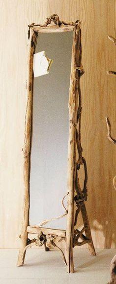 Driftwood standing mirror!