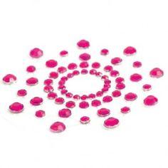 MIMI NIPPLE COVERS PINK  Decora tu cuerpo con los detalles más sensuales.  Cubre-pezones brillantes de la colección Mimi de Bijoux Indiscrets.  Dos piezas.   Color Rosa.