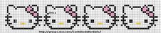 Free Hello Kitty Cross Stitch Patterns | is available a cross-stitch border with Hello Kitty faces. The pattern ...