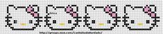 Free Hello Kitty Cross Stitch Patterns | is available a cross-stitch border with Hello Kitty faces. The pattern ...