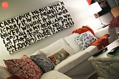 Choose words that inspire you and make them visible every day! Easy enough to paint.