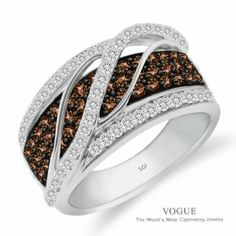 Stunning Coco Diamond Ring with Diamonds Accents set in White Gold!