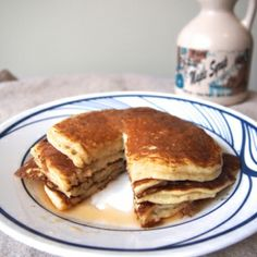 These healthy Greek yogurt pancakes are so thick and fluffy!