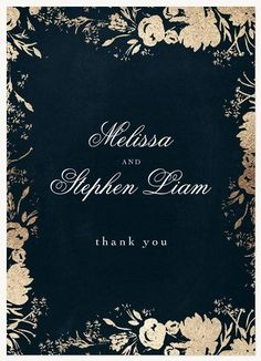 Thank You Cards - Select printing options and begin customizing your card for design 54178 Black And White Wedding Invitations, Beach Wedding Invitations, Party Invitations, Invite, Beach Wedding Reception, Destination Wedding, Wedding Planning, Formal Wedding, Wedding Hair
