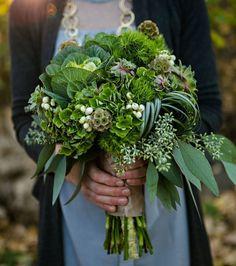Bouquet de mariée : du vert dans le bouquet