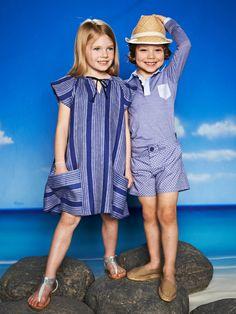 burda style - schnittmuster für Kinder -  A-Linien-Hängerchen, Polohemd mit Poloblende und Shorts mit Hüftpassentaschen. Foto: Moritz Zauner