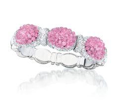 Cellini Jewelers Pink Sapphire Briolette Bangle