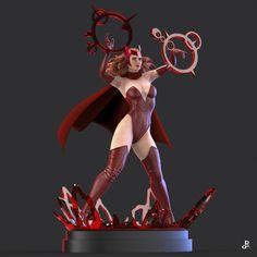 Marvel Dc, Marvel Comics Superheroes, Marvel Fan Art, Marvel Heroes, Scarlet Witch Comic Costume, Scarlet Witch Marvel, Spiderman Fanart, Bishoujo Statue, Female Comic Characters