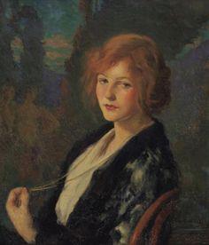 "radstudies: ""Ivan Olinsky (Russian-American, 1878-1962) Portrait of a Young Woman """