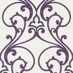 Rasch Glamour Paste the Wall Scroll with Glitters Purple 404647 at wilko.com