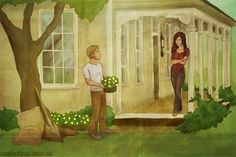 Peeta and Katniss After The Rebellion / Hunger Games Fan Art / This was Hand Drawn! / Pretty House