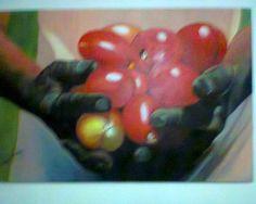 """Obra """" Cosecha de tomates"""""""