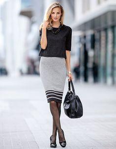 Strickkleid mit kurzem Arm | MADELEINE Mode