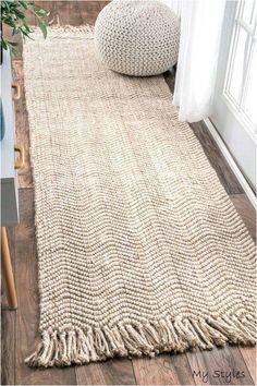 Alburtis Beige Handwoven Flatweave Area Rug Set the tone for a country cottage-i. - Alburtis Beige Handwoven Flatweave Area Rug Set the tone for a country cottage-inspired kitchen or - Diy Carpet, Rugs On Carpet, Cheap Carpet, Stair Carpet, Hall Carpet, Carpet Ideas, Jute Carpet, Carpet Decor, Carpets And Rugs