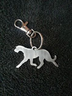 Schlüsselanhänger Irish Wolfhound ausEdelstahl