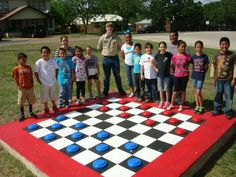 1 large checkerboard eagle scout http://hative.com/cool-eagle-scout-project-ideas/
