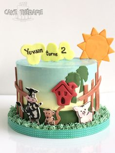 Cute Farm themed cake  - Cake by Caketherapie