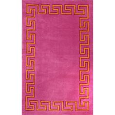 Add a touch of whimsy to your home with this geo border rug. The area rug is constructed from durable 100 percent polyester and features a modern border design that will give any room a splash of color and fun.