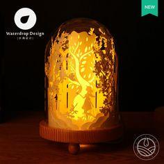 Свет и Тень бумаги резные Lights мечта Гостиная Настольная лампа DIY Творческий Простой Современный теплой светодиодный свет ночи купить на AliExpress