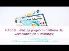 Mini álbum scrap fácil paso a paso | Scrapbook en español