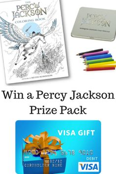 #Giveaway: Win $50 Visa Card, Percy Jackson Coloring Book & Colored Pencils (Ends 9/15) #PJColoringBook