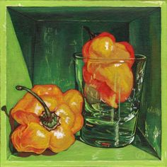 Artwall Paige Wallis Scotch Bonnet Gallery-wrapped Canvas, Size: 36 x Orange Travel Illustration, Still Life Art, Wallis, Medium Art, Online Art Gallery, Wrapped Canvas, Canvas Wall Art, Color Pop, Scotch