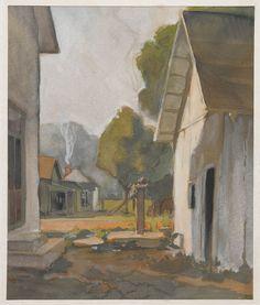 Gustave Baumann - Nashville Pump,1910-16  watercolor over graphite on cream wove paper