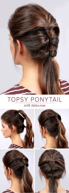 We're turning your everyday ponytail on its head with this week's Topsy Ponytail Hair Tutorial! We love how this look mimics the classic look of a french braid but with half the hassle! Take a peek at
