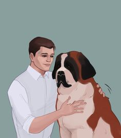 Detroit become human Connor and Sumo By: tochnonechaika