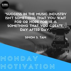 Success in the music industry isnt something that you wait for or hope for. Success in the music industry isnt something that you wait for or hope for. It is something that you create day after day. What are your musical plans this week? Sound Service, Freelance Marketplace, Monday Motivation, Motivation Inspiration, Music Promotion, Group Of Companies, Music Industry, Music Education, Latest Music