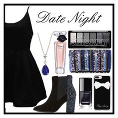 """Date night"" by snowboarder17 ❤ liked on Polyvore featuring WithChic, Dune, Santi, Casetify, Lancôme and DateNight"