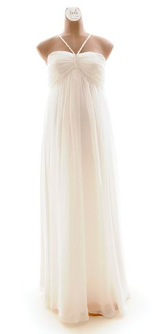 Nerissa Maternity Wedding Dress  Designed by Bjorn & Me... Maybe with a little shrug over